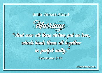 """""""And over all these virtues put on love, which binds them all together in perfect unity.""""  #relationship #bibleverses #weddingquotes #loveinspiration #weddinginspiration #lovequotes #bibleversesoftheday #123WeddingCards"""