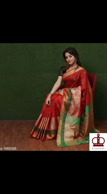 645 Only Cash on delivery Elegant Silk Woven Saree Fabric: Saree -  Silk, Blouse - Silk Size: Saree Length With Running Blouse - 6.3 Mtr Work: Woven