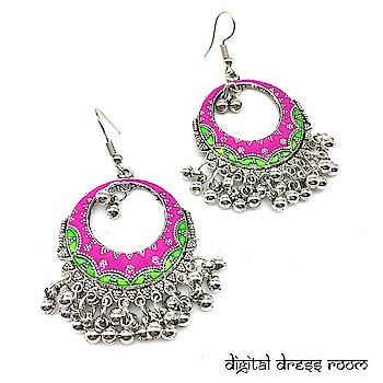 Traditional Oxidized Light Weight Round Silver Hook Earrings❤ Item Code :(🔎1403NE03-pi-349) Purchase from our website-https://digitaldressroom.com/collections/earrings #earring #earrings #goldearrings #goldstudearrings #goldplatedearrings #enamal #goldenamalearring #metalearring #studearring #goldoxidizedearrings #multicolorEarrings #entiqueearrings #entiquegoldearrings #oxidisedearrings #1403NE03-pi #enamalworkearrings #ethnicearring #earringsforgirls #earringsforwomen #jewellery #womensjewellery #indianfashion #indianjewellery #traditionaljewellery #weddingjewellery #statementjewellery #fashionjewellery #jewellerylovers #womenwears #mangalsutra