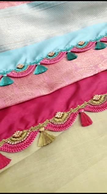 Subscribe to our Knotty Threadz Yotube Channel.  Blog: www.knottythreadz.net Web: www.knottythreadz.com  #saree #sareefashion #crochet #blousedesign #sarees #tassel