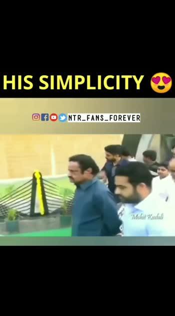 ntr gari simplicity ki handsup #jrntr #ntrfans #ntramarao #simplicity
