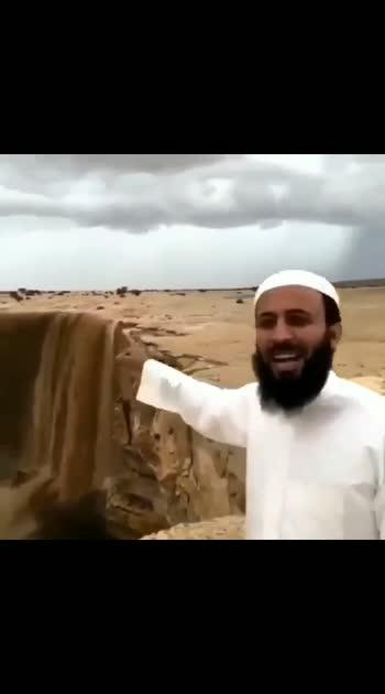 sandfall in saudi arabia