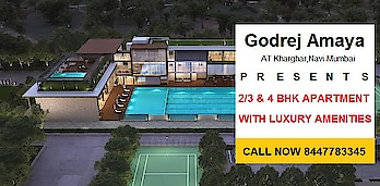 Godrej Amaya is a new luxurious residential project at Kharghar Navi Mumbai. This is a developed By Godrej Group. It is a offering 2BHK,3BHK & 4BHK Residences Apartments at an affordable price. Their apartment are located at Kharghar Navi Mumbai.   Call Us 8447783345 Visit Us http://www.godrejgroup.in/projects-in-mumbai/godrej-amaya-kharghar/