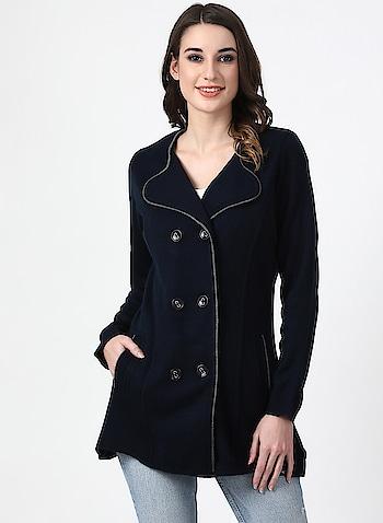 Stylish women winter wear coat Link: http://bit.ly/2RT3fu4  #winterwear #coat #womenswear #fashion
