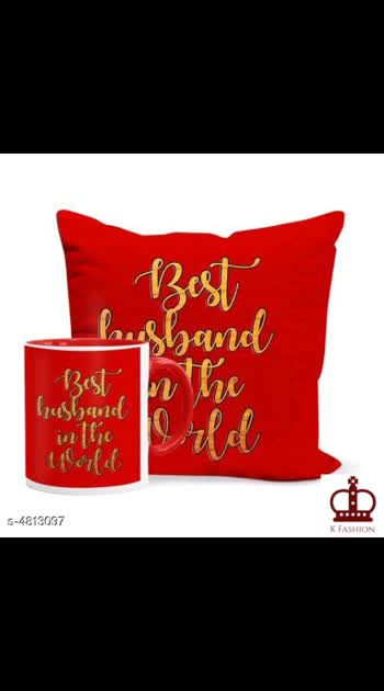 475 Only Cash on delivery Stylish  Mugs Combo Material: Mug :Ceramic , Cushion Cover : Satin Size: Mug : Free Size, Cushion Cover( L X W) : 12 in X 12 in Capacity: Mug : 320 ml Description: It Has 1 Piece Of Mug & 1 Piece Of Cushion Cover  Work: Printed