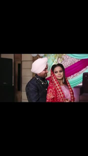 #wedding #punjabicouple #lovestory #sardarsardarni #makeup #jewellery #dress #cutecouple