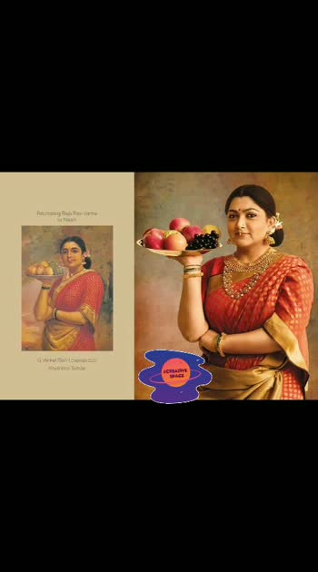 #roposocreativespacechannel  Renowned #photographers_of_india   G Venket Ram's Calendar #2020   for Naam - Recreating Raja Ravi Varma paintings... with #southindianactress .#kusbhu 😍😍😍