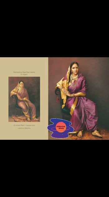 #roposocreativespacechannel  Renowned #photographers_of_india   G Venket Ram's Calendar #2020   for Naam - Recreating Raja Ravi Varma paintings... with #southindianactress 😍