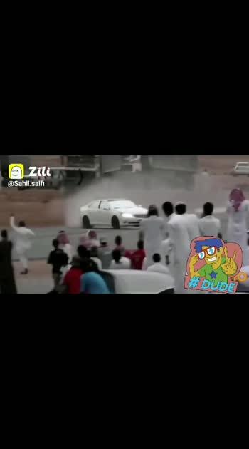 Amazing stunt on car