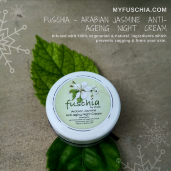 Arabian #Jasmine Anti-ageing Night Cream helps to restore the #essential_oils that is robbed off due to the hassles of daily life.  Shop Now on: WWW.MYFUSCHIA.COM  #Fuschia #NaturalSkincare #skincareTreatment #beautyAddict #Antiaging #acne #Antiagingskincare #NightCream #NaturalCare #NaturalBonds #AgeLock #LiveYoung #CarePackage #SkinHealth #MenSkincare #SkincareRoutine #SLSfree #SLESfree #Parabensfree #phthalatesfree #Mineraloilfree