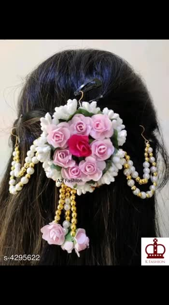295 Only Cash on delivery Designer Artificial Flowers Women's Hair Accessories Material: Artificial Flowers Size: Free Size Description: It Has 1 Piece Of Hair Accessories  Work: Floral