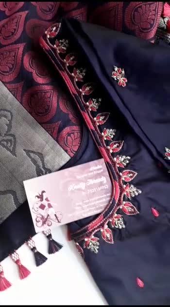 #saree #maggamwork #blousedesign #blousestyle #aari #tassel #sareetassels