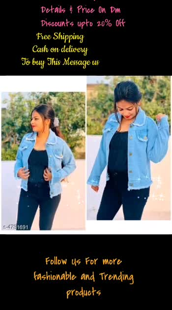 Fabulous Women Jackets & Waistcoat Fabric: Denim Sleeve Length: Long Sleeves Pattern: Solid Multipack: 1 Sizes:  XL (Bust Size: 42 in, Length Size: 28 in, Waist Size: 24 in)  L (Bust Size: 40 in, Length Size: 28 in, Waist Size: 24 in)  M (Bust Size: 38 in, Length Size: 28 in, Waist Size: 24 in)  #fashionfactory #girlsshopping #shoppingonline #bestoffers #karnatakadubsmashzone #kannadaroposostar #tamiltrending #trendingonroposo #roposostar #fashion #bangalore #indianfashion #followmeonroposo