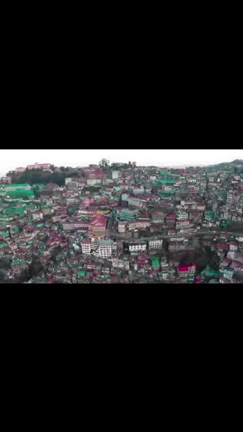 Shimla drone shot #shimladiaries #imtiazali #mountain-hiking