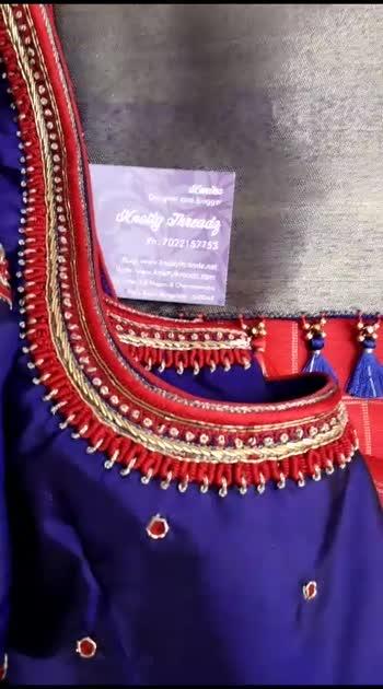 #silksaree #embroidery #sareefashion #designer #blousedesign #blousestyle