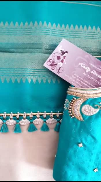 #saree #sareelove #fashion #sareefashion #blousedesign #blouses #embroidery #embroiderywork