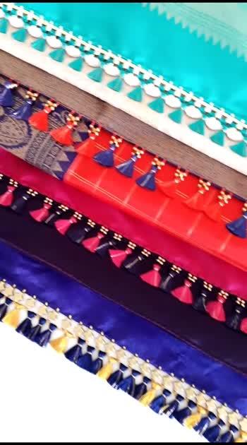 #knottythreadz #sareefashion #tassel #designer #blogger #embroidery #sareelove