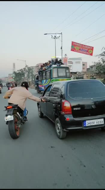 car vs bike#roposostar #bike-stunt