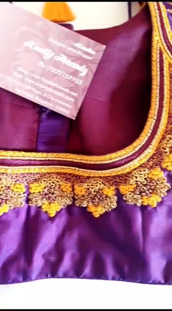 #blouse #embroidery #designer #blogger #youtuber #latkan #tassel