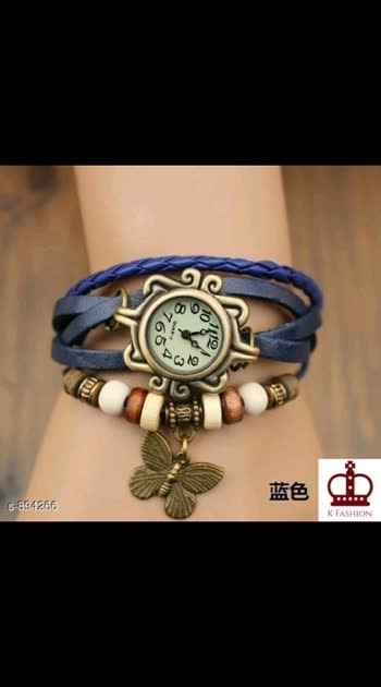 265 Only Cash on delivery Women's Stylish Watch Material: Leather Size: 56 mm Type: Analog Description:  It Has 1 Piece Of Women's Watch Work : Embellished & Beads Work