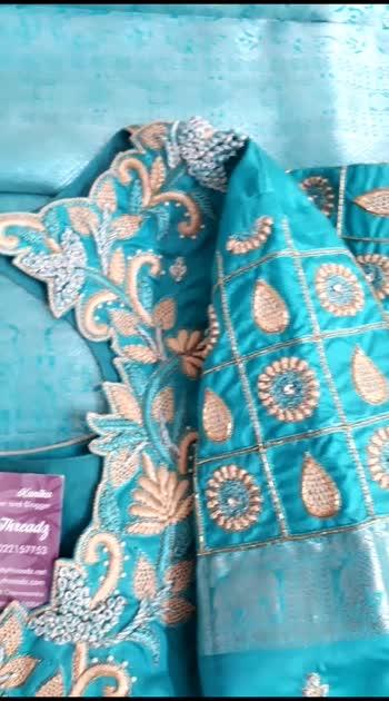 #blousedesign #sareelove #tassel #designer #blogger  #embroidery #maggamwork