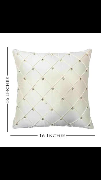 Vbc *Crystal Stone Pintex Design Cushion Covers**            _For online_ ♠️   *Size* : Cushion Cover 16XI 6 inch   Pack - set of 5 pcs/ Cushion Cover   *Size* -  40X40 cms set of 5 pcs,    *Thread Count* : 200 TC,   *FABRIC* - Both Side Super  Satin Fabric , Designer Super Satin fabric with Handmade  Pintex And Crystal Stone on front and  matching color Super Satin on back side of  cushion covers.  *Closure Type* : Zip lock at  back of each cover with flap to hide the  zipper. An inside layer of foam gives more  soft touch to the cover. All round overlock  inside to provide extra durability to these  cushion covers.    *Price*-  RS 700/-+$   *WEIGHT* - 700 GMS