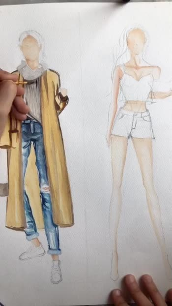 Fashion Illustration ❤️ #roposo #roposostar #risingstar  You can meet me on - Instagram : theamrapalette  Youtube - https://www.youtube.com/channel/UCTPi5u75aCTM7P4zcbdLWiw