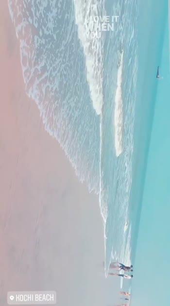 Kochi beach 🌊👣