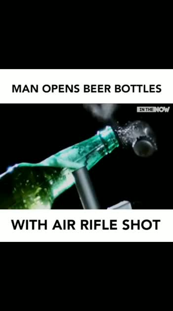 beer bottle open without opener........