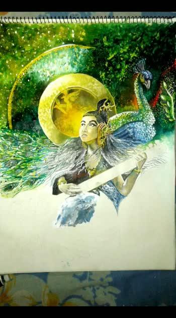 Devi saraswati #artsandcrafts #artist #art #arts #artsy #paint #paintings #painting #drawing #drawings #drawingbyme #drawingoftheday #artoftheday