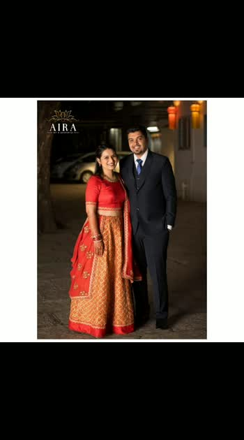 Once in a while in the middle of an ordinary life, love gives us a fairy tale..!! 💕  We loved being a part of such fairy tale moment for @sudeshna.nirgudkar  #happybride #happyclient #happilyeverafter #clientdiaries #airabride #engagement #outfit #lehenga #red #orange #love #goldenwork #happygirlsaretheprettiest #indianbride #indianwedding #bridal #indianwear #instagram #bridesofinstagram #bridesofindia #bridaldesigner #fashiondesigners #punedesigners #customizedesign #custommade #indiandesigners #potd