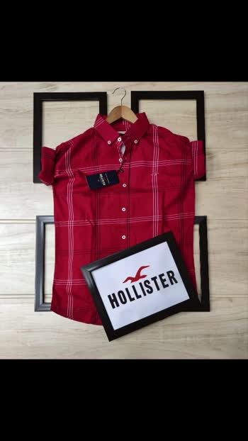 Gs *BRAND:- HOLISTER SHIRT*  *STYLE - Full Sleeve, Normal Fit Shirt 🥰*  Fabric - *High Quality Shirt With Cotton Stuff*💞 ** *Size M-38  L-40 XL-42*///  *Price @ 450/-+ ship*  🎉🎉🎉🎉🎉🎉🎉 *Aasam.port blyer. Ship  40 rs extra** *Speed post 45 rs extra*  *6-6sets available*  *2 colors avl*  _