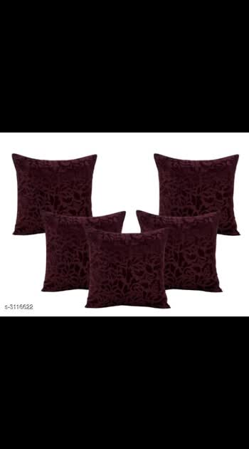 365 Only Cash on delivery Stylish Velvet Cushion Cover Material: Velvet  Dimension (L X W): 16 in x 16 in Description: It Has 5 Pieces Of Cushion Covers Work: Embroidery