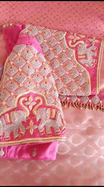 Heavy embroidered bridal blouse ..   #blousedesign #blousestyle #sareelove #designerwear #embroiderywork #tassels #blogger #youtubercreators