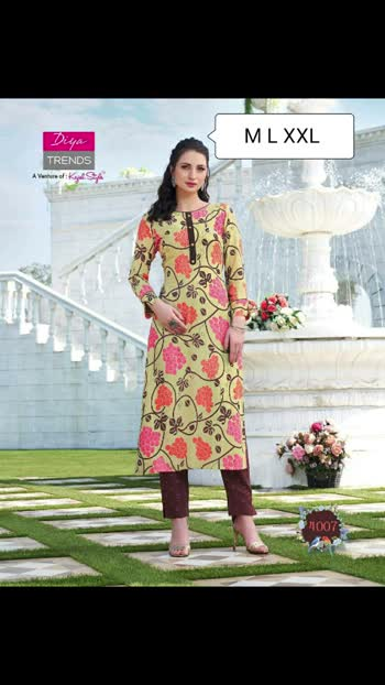 Prin Fresh As Petals & Wild As Rose,Our All New *Kurtis With Plazzo & Pant Pair* Collection Are Here To Bring Freshness In Your Daily Life Style.🥰🥰🥰🥰🥰🥰🥰  *⭐DIYA TRENDS⭐* (A Venture of KAJAL STYLE)  Catalogue name:  *BIBA'S VOL 4*😘😘  ✨Details 🧥Pattern:  *KURTI WITH PLAZZO  OR PANT PAIR*🙀🙀  👗Fabrics -   *Rayon* *Cotton Flex* *Fancy Embroidery Work* *Classy Prints*🐒🐒  🎗Size - *M(38) L(40) XL(42/43) XXL(44/45)* Mentioned on the pic   Singles available Singles price just *720/-+$* with gst😎😎💓