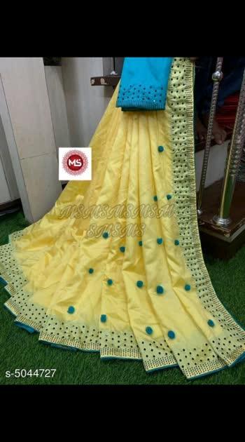 750 Only Cash on delivery Fancy Women Zoya Silk Saree Saree Fabric:Zoya Silk Blouse: Separate Blouse Piece Blouse Fabric: Banglori Silk Pattern: Embellished Multipack: Single
