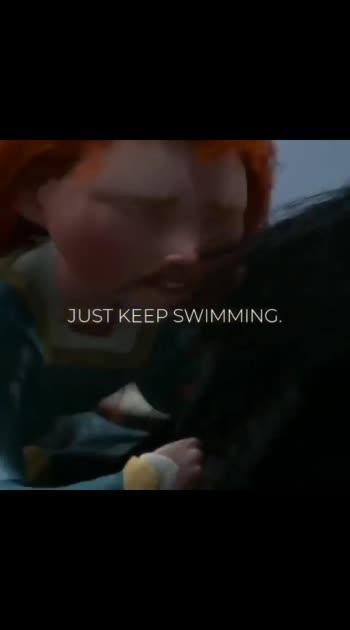 just keep swimming keep swimming  swimming swimming #soulfulquotes  #roposostar
