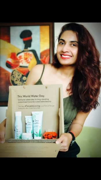 """This #WorldWaterDay @oriflameindia  has launched the #TwiceAsLoving """"Love Nature Range"""" which celebrates their commitment towards sustainable beauty.   This collection aims to not just protect our skin but also the oceans and the marine life.   How?  • They don't use plastic microbeads and use 100% natural-origin exfoliants that are eco-friendly  • The products are silicon free and biodegradable   • Their wellness factory in India is designed to reuse 100% of it's water  • 21% reduction of water usage per produced unit since 2015   Isn't it amazing to have a brand that not just focuses on helping us a great a beautiful skin but to protect the nature and it's resources too!!   I pledge to be very judicious while using water   - Fix the tap leakage if any  - Never to keep the water running while applying soap on my hands   - Will take quicker showers   - Will reuse Water as much as I can  Here's a chance for you to win the 'Love Nature Range' by Oriflame. All you have to do is to visit @OriflameIndia and participate in the #TwiceAsLoving contest. Do check out their latest post!   #beautybloggers #beautyinfluencer #skincare #ecofriendlyproducts #indianbeautyblogger #marinelife #saveoceans #ShailySingh"""