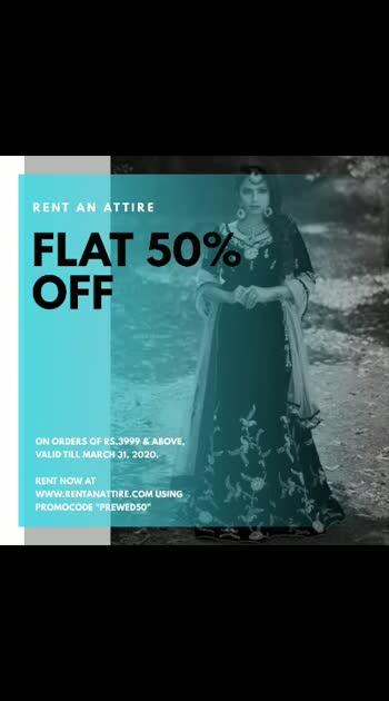 Buy Less, Rent More!!  Get Flat 50% off on orders of Rs.3999 & above.   Rent now at www.rentanattire.com using Promocode PREWED50. Offer valid till March 31, 2020.  P.S: Booking dates flexibility on all orders, you can change the booking dates anytime after placing the order.   #raa #rentanattire #fashionrental #fashiononrent #designerwear #rental #buylessrentmore #rentingisanewtrend #whybuywhenyoucanrent #weddingwear #weddingfashion #indianweddings #fashionrevolution #fashion #bridalwear #groomwear #bridesmaids #groomsmen #renting #sale #discount #offer #booknow #dmfororders