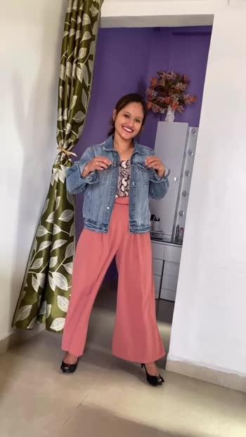 Date:26.03.2020 Outfit Ideas with palazzo!! #outfitidea #palazzostyle #fashionblogger #fashionbloggerindia #denimjacket
