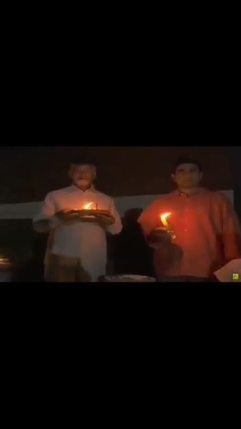 #chandrababunaidu  and  #naralokesh  lighted candles....