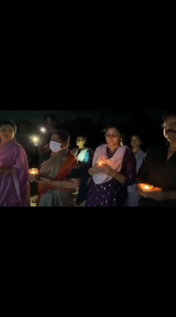 megastar  #chiranjeevi  and  family  lighted  candles