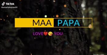 i love u my mom dad