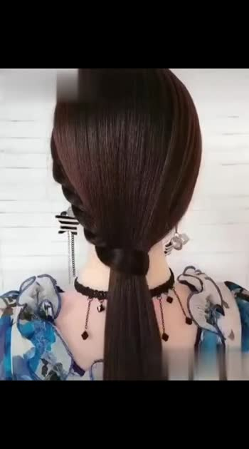 hair style💐 everyone can do.
