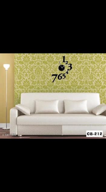 825 Only Cash on delivery Stylish Acrylic Designer Wall Clock Material: Acrylic Size (L X H): 36 cm x 24 cm Type: Analog Description: It Has 1 Piece Of Wall Clock