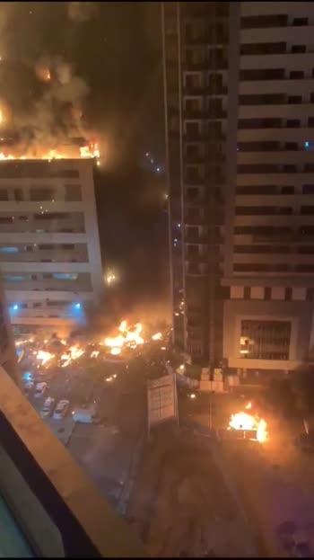 fire Dubai 48 th floors Buildings 🔥