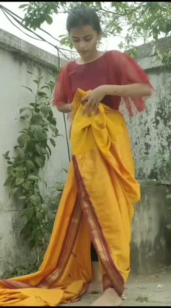 Drape a saree in dhoti style #sareedraping #sareedrapingstyle #sareelove