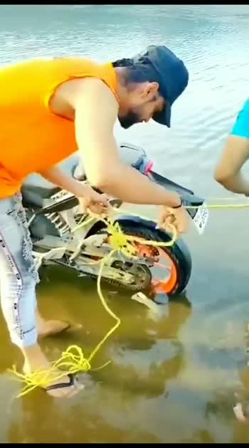 water tochan#roposostar #bikestunts