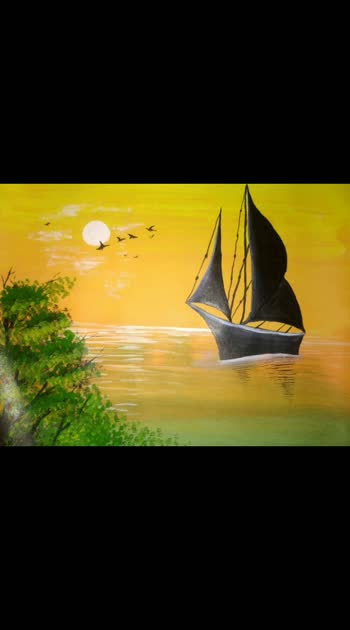 Boating painting