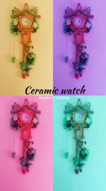CERAMIC WATCH https://instagram.com/handmade__creation?igshid=1j9q1id372mbs #handmade  #ceramic #birthdaygifts #anniversarygift